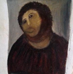 Ecce Homo Meme - ecce homo spaniards outraged after beholding restored