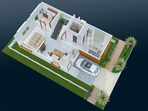 Small 2 Bedroom House Plans Incredible Floor Plan For North Facing Duplex House 30 50