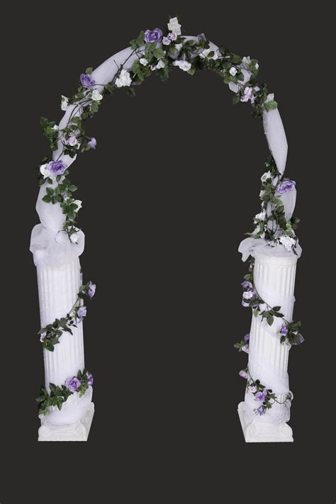 wedding arch omaha tulle arch w columns lights united rent all omaha