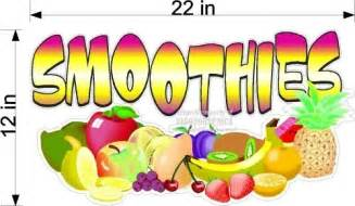 large fruit smoothies vinyl decal concession graphic ebay