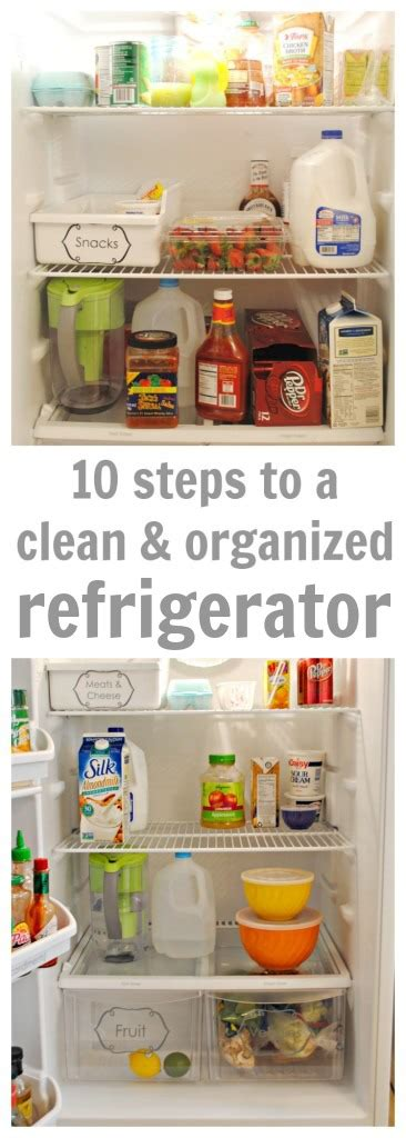 10 Steps For Cleaning by 10 Steps To A Clean And Organized Fridge Clutter