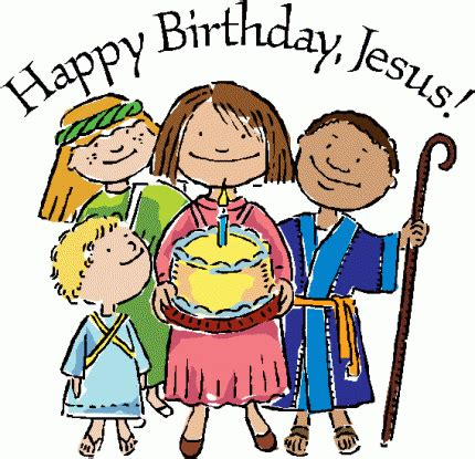 christmas baby jesus party for kids happy birthday jesus clipart
