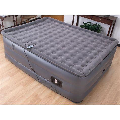 easy riser 174 high rise pillowtop air bed with remote 194771 air beds at sportsman s guide