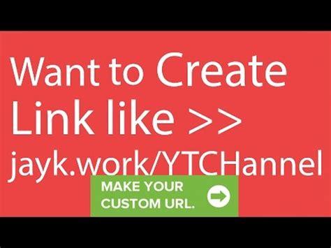 create vanity url how to create custom url shortener of your own