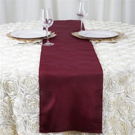 wedding reception table runners 10 polyester 12x108 quot table runners wedding reception