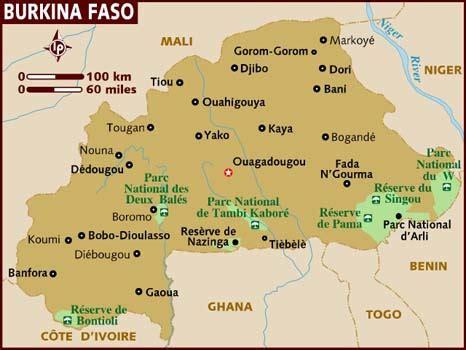 burkina faso map map of burkina faso