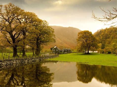foto pemandangan desa  indah  damai pernik dunia