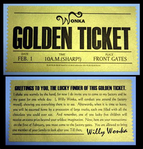 wonka template willy wonka golden ticket template