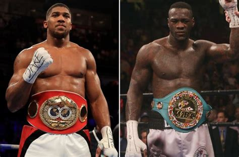 Search For Wilder Sky Bet Boxing Odds Anthony Joshua Big Favourite To Beat Deontay Wilder In Search For