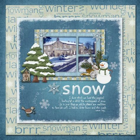 Snow Layout by Snow Scrapbooking Page Layout Ski Snow And Winter