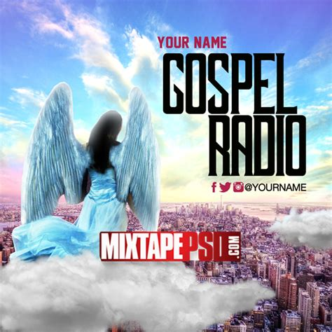 mixtape template gospel radio mixtapepsd com