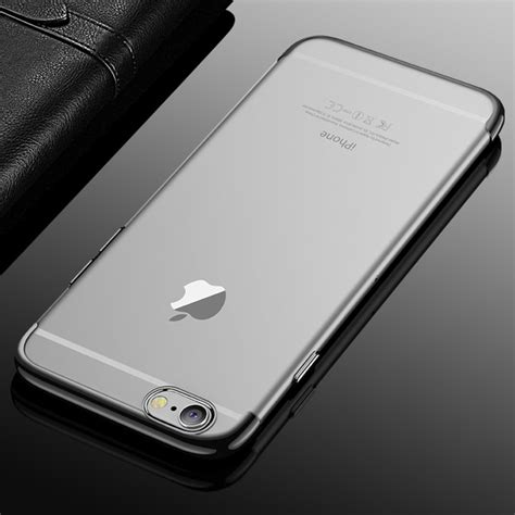 Japan Printing Black Softcase For Iphone 6 6 And Iphone 7 7 cafele for iphone 6 plus 6s plus color electroplating tpu soft protective back cover