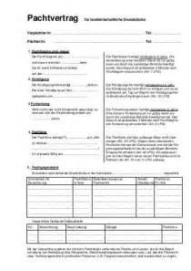 Muster Pachtvertrag Landwirtschaft Pachtvertrag F 252 R Landwirtschaftliche Grundst 252 Cke