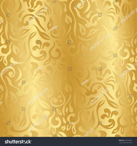 Wallpaper Flower Background Coklat seamless vintage floral background gold seamless stock