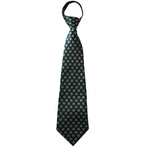 1901 black with yellow flowers necktie boy s zipper ties