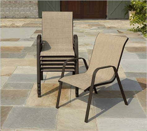 Patio Chairs With Ottomans Slingback Patio Chairs With Ottoman Patios Home Decorating Ideas Paangopxpm