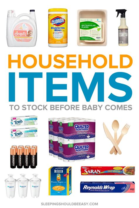 household items essential household items to stock up before baby arrives
