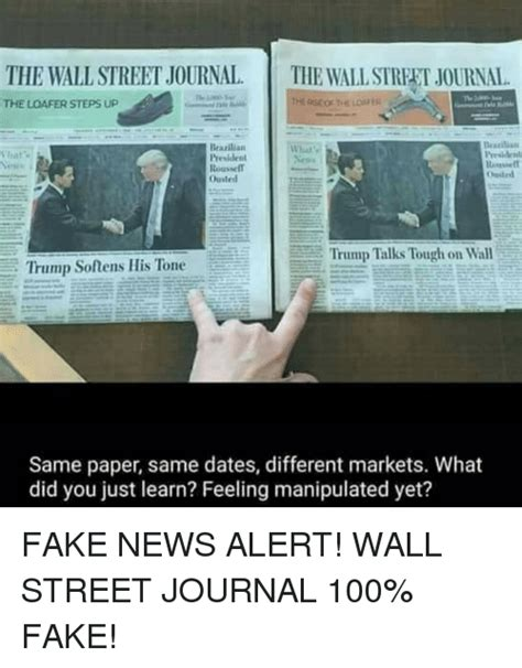 Journal Meme - 25 best memes about wall street journal wall street