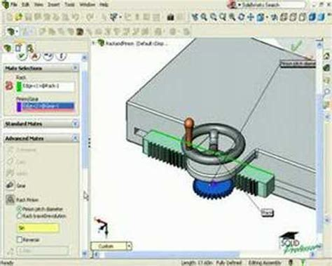 Solidworks Rack Pinion Mate by Solidworks Tutorials By Solidprofessor Rack And Pinion