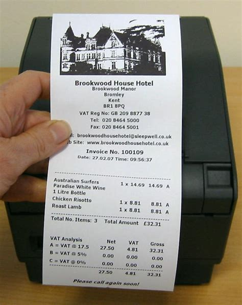 Direct Thermal Receipt Paper Thermal Printer Receipt Template