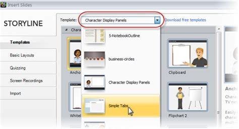 articulate storyline templates here s how to see what templates are available in your