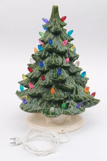 ceramic table top lighted tree retro ceramic tree lighted electric tabletop