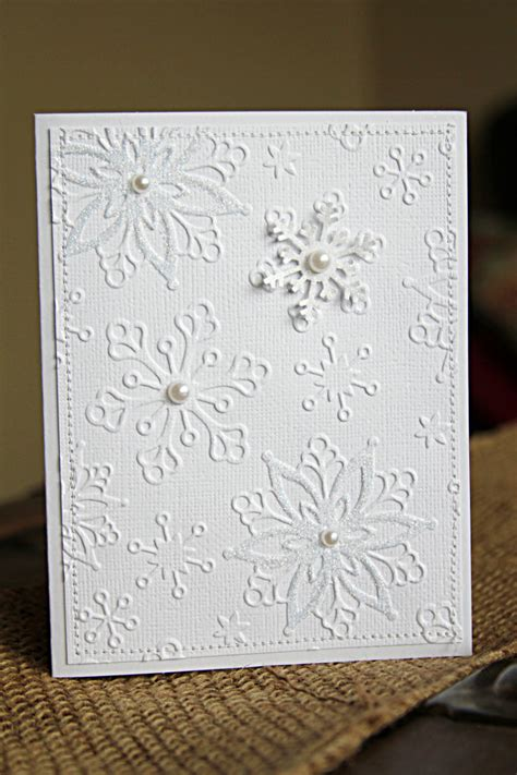 Handmade Cards Tutorials - handmade cards tutorial with white on white