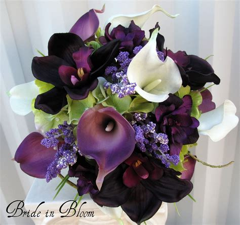 wedding bouquet brides bouquet real touch by