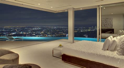 bedroom view bedroom pool lighting evening city views tanager