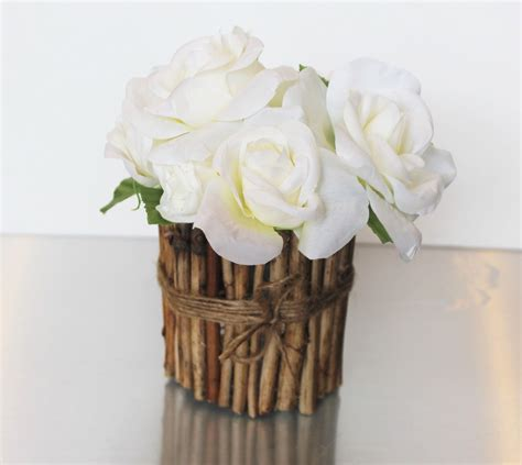 vases and more home dcor accents eco friendly dcor from silk rose flower wood vase rustic design eco friendly home