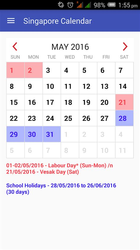 Singapore Kalender 2018 Singapore Calendar 2018 Android Apps On Play