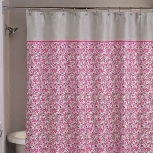 Gray And Pink Curtains Floral Fabric Bathroom Shower Curtain Loft Style Pink Gray Flower Free Ship Ebay