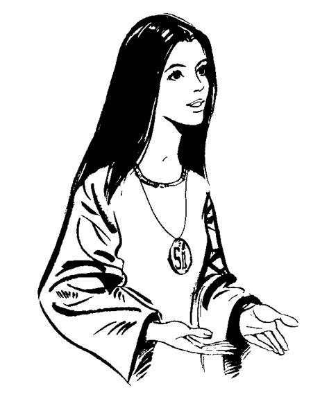 imagenes virgen maria para dibujar virgen maria auxiliadora para colorear imagui
