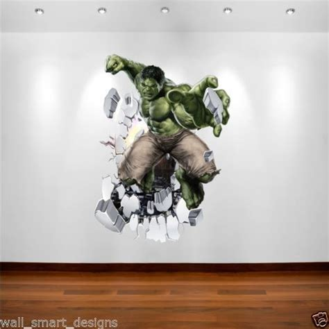 Wall Stickers Dinosaurs incredible hulk marvel superhero wall art sticker decal