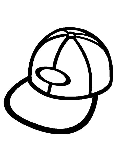 hello kitty baseball coloring pages baseball hat coloring page clipart best