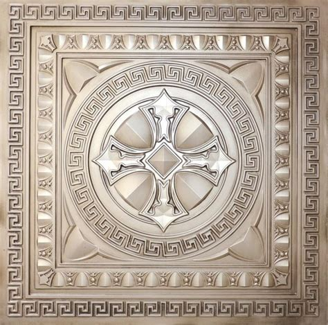 Buy Tin Ceiling Tiles by Dct 01 Antique White Faux Tin Ceiling Tiles 24x24 Ceiling Tile Other Metro By Decorative