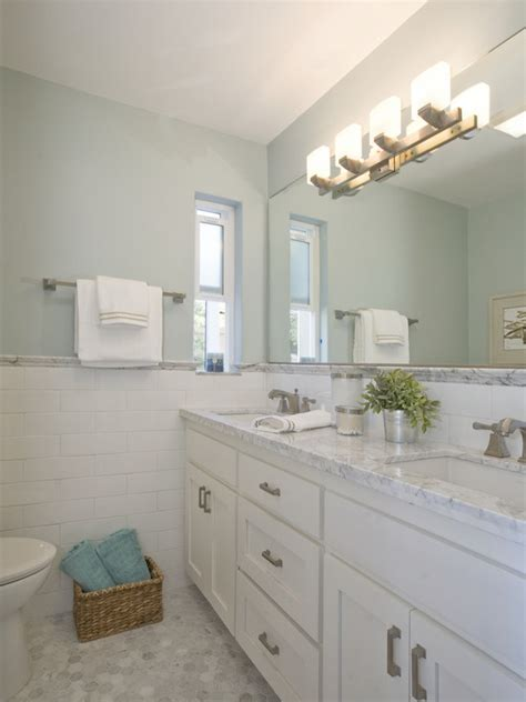 beautiful cabinets and carrara marble on pinterest carrara marble hex tile floor white subway tile wall