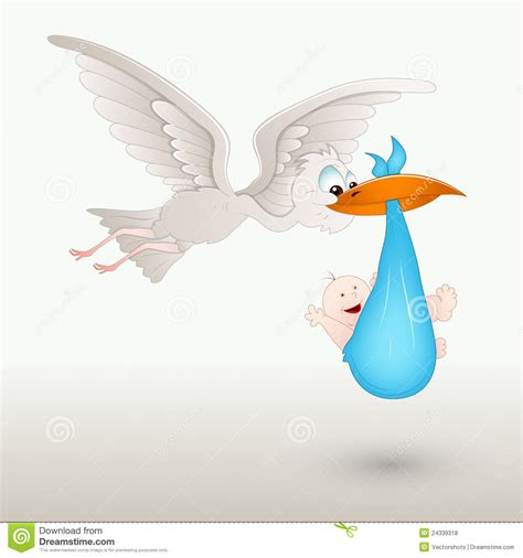 Holding A Baby Shower by Stork Holding A Baby Stock Vector Image Of Carrying