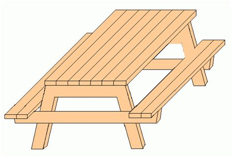 how to draw a picnic table wood picnic table drawing pdf plans