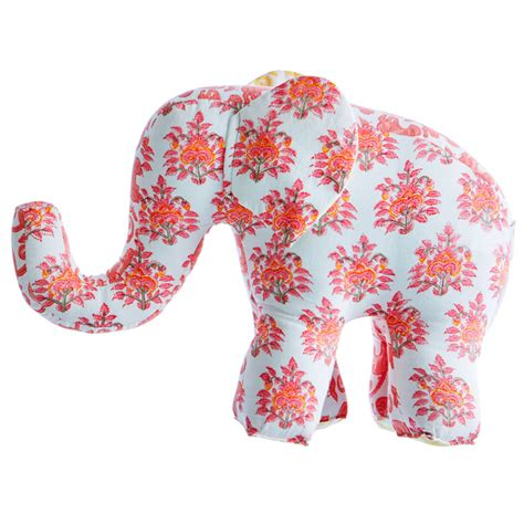 Pink Elephant Pillow by Lali Pink Elephant Accent Pillow By Rikshaw Design