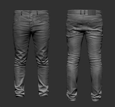 zbrush jeans tutorial art by emil mujanovic cloth pinterest zbrush