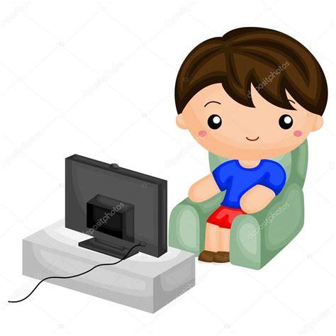 Imagenes Animadas Viendo Tv | ni 241 o viendo tv vector de stock 169 comodo777 98338036