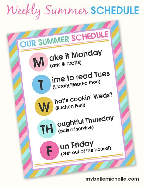 summer c schedule template summer c schedule template 28 images 4 work schedule