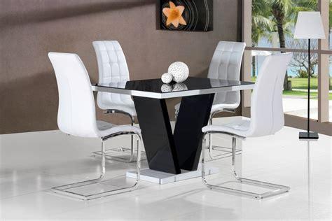 Ga Vico Blg White Black Gloss Gloss Designer 120 Cm Dining Black Gloss Dining Room Furniture