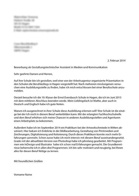 Anschreiben Bewerbung Ernst Berufskolleg Bewerbung So Richtig Kollegen Korrektur Berufschule
