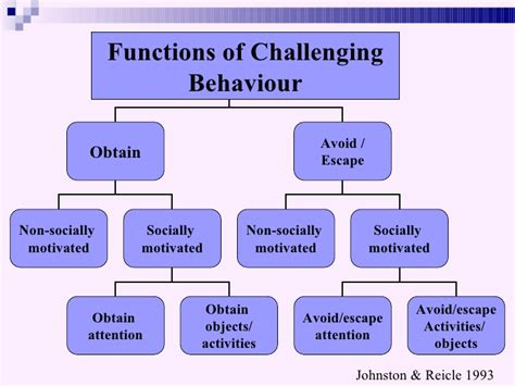 types of challenging behaviours developmental disability presentation version ppt