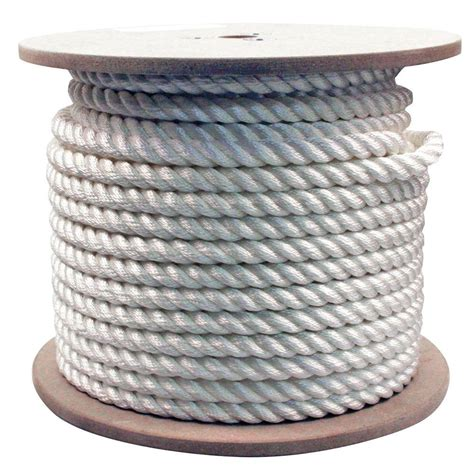 rope king 3 4 in x 200 ft twisted rope white tn