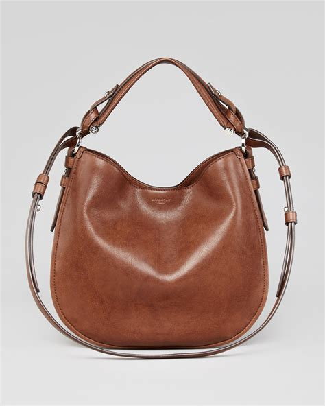 Tas Givenchy V Ring K lyst givenchy obsedia small leather hobo bag in brown