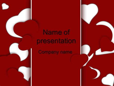ppt themes love download free love powerpoint template for your presentation
