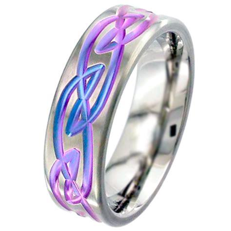 Ekslusive Silver Chain Bracelet 12mm Titanium Steel 316lgelang Pria flat profile anodised zirconium wedding ring with celtic